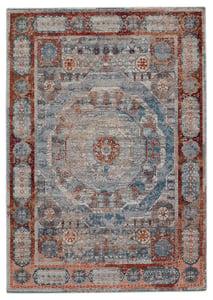 Blue, Red (VLN-16) Valentia Arcadia Traditional / Oriental Area Rugs