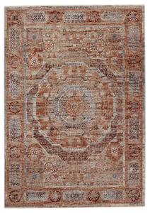 Rust, Blue (VLN-15) Valentia Arcadia Traditional / Oriental Area Rugs