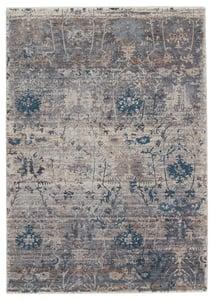Grey, Blue (VLN-20) Valentia Ozella Vintage / Overdyed Area Rugs