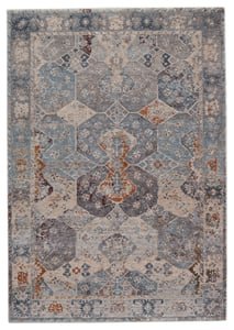 Blue, Grey (VLN-21) Valentia Thessaly Traditional / Oriental Area Rugs