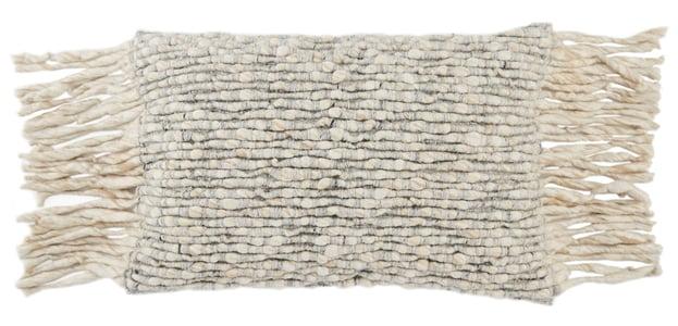 Cream, Light Grey (AGO-07) Angora Pillow Cilo Contemporary / Modern Pillow