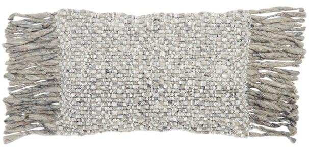 Light Grey, Ivory (AGO-08) Angora Pillow Cilo Contemporary / Modern Pillow