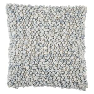 Light Blue, Ivory (AGO-05) Angora Pillow Kaz Contemporary / Modern Pillow