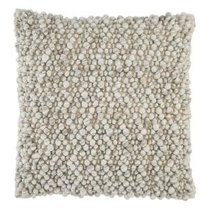 Light Grey, Ivory (AGO-06) Angora Pillow Kaz Contemporary / Modern Pillow