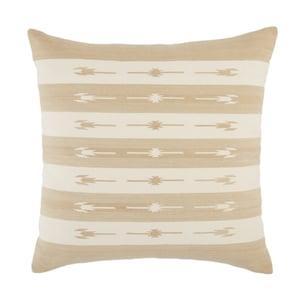 Taupe, Cream (EMN-02) Emani Pillow Vanda Southwestern Pillow