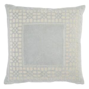 Light Blue, Cream (MEZ-02) Mezza Pillow Azilane Contemporary / Modern Pillow