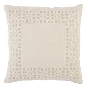 Beige, Light Grey (MEZ-03) Mezza Pillow Azilane Contemporary / Modern Pillow