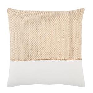 Gold, White (TGA-08) Taiga Pillow Sila Contemporary / Modern Pillow