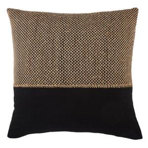 Light Tan, Black (TGA-11) Taiga Pillow Sila Contemporary / Modern Pillow