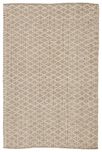 Light Taupe, Ivory (ZLN-02) Zealand Cecil Natural Fiber Area Rugs
