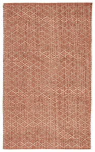 Pink, Beige (ZLN-03) Zealand Cecil Natural Fiber Area Rugs