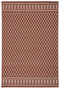 Red, Cream (MAR-01) Marina Vella III Contemporary / Modern Area Rugs