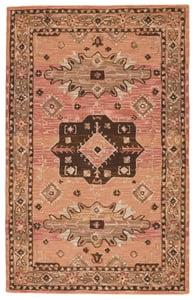 Pink, Brown (COM-05) Cardamom Idina Traditional / Oriental Area Rugs