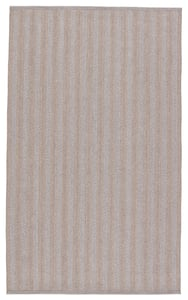 Grey, Taupe (BRO-04) Brontide Topsail Striped Area Rugs