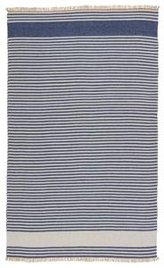 Blue, Beige (MRB-03) Morro Bay Strand Striped Area Rugs