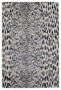 Dark Blue, Ivory (MLI-04) Malilla by Nikki Chu Kimball Animals / Animal Skins Area Rugs