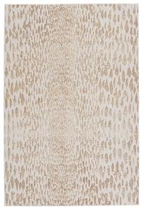 Ivory, Gold (MLI-07) Malilla by Nikki Chu Kimball Animals / Animal Skins Area Rugs