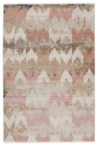 Beige, Light Pink (SBC-07) Sanaa by Nikki Chu Zevi Chevron Area Rugs