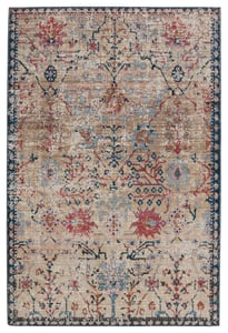 Tan, Blue (SWO-11) Swoon Elva Vintage / Overdyed Area Rugs