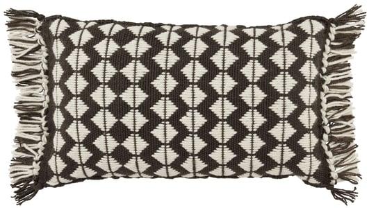 Black, Ivory (CHE-02) Chesa Pillow Perdita Geometric Pillow