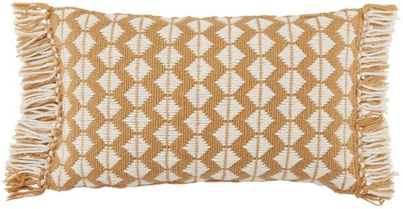 Gold, Ivory (CHE-05) Chesa Pillow Perdita Geometric Pillow