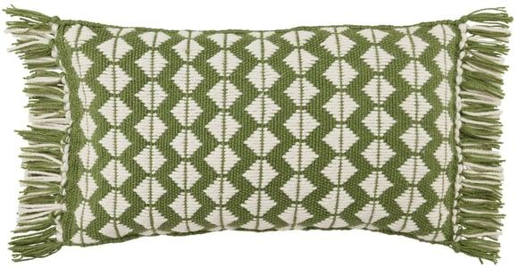 Green, Ivory (CHE-04) Chesa Pillow Perdita Geometric Pillow