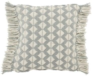 Light Blue, Ivory (CHE-01) Chesa Pillow Perdita Geometric Pillow