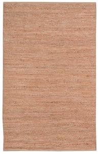 Orange, Brown, Ivory (NAT-3) Naturals Flat Woven Natural Fiber Area Rugs