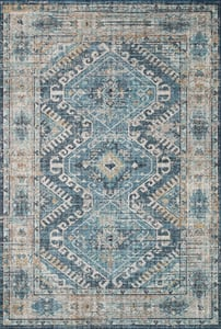 Denim, Natural Skye Printed SKY-03 Traditional / Oriental Area Rugs