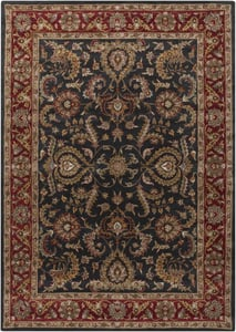 Charcoal, Red (AWHY-2061) Middleton Georgia Traditional / Oriental Area Rugs