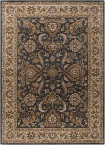 Charcoal, Ivory (AWHY-2063) Middleton Georgia Traditional / Oriental Area Rugs