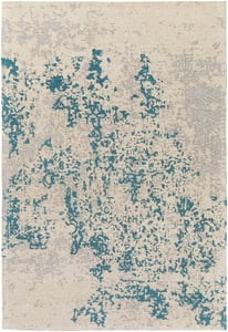 Teal Blue, Silver (EGT-3079) Egypt Lara Abstract Area Rugs
