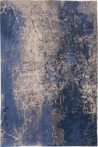 Abyss Blue (8629) Mad Men Cracks Abstract Area Rugs