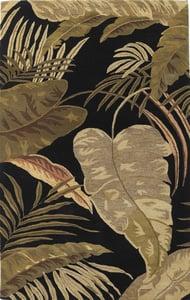 Midnight (2616) Havana Rainforest Floral / Botanical Area Rugs