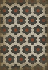 Soft Ivory, Muted Charcoal - Organic Synthesis Classic Vintage Vinyl Pattern 02 Floral / Botanical Area Rugs