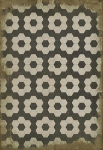Muted Ivory, Distressed Black, Brown - Resonance Classic Vintage Vinyl Pattern 02 Floral / Botanical Area Rugs