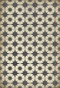 Antiqued Ivory, Distressed Black - Astraea Classic Vintage Vinyl Pattern 20 Contemporary / Modern Area Rugs