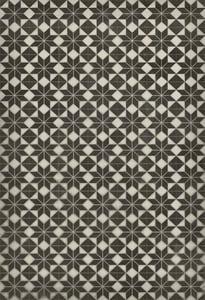 Distressed Black, Soft Ivory - Stargazer no border Classic Vintage Vinyl Pattern 20 Contemporary / Modern Area Rugs