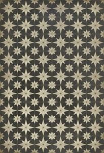 Distressed Black, Antiqued Ivory - Vesper Classic Vintage Vinyl Pattern 20 Contemporary / Modern Area Rugs