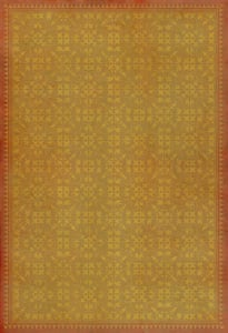 Distressed Gold, Orange - In the Golden Afternoon Classic Vintage Vinyl Pattern 21 Contemporary / Modern Area Rugs