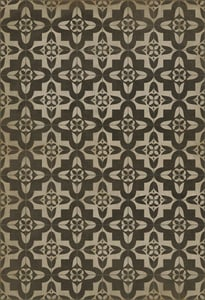 Antiqued Brown, Distressed Ivory - Boggled Classic Vintage Vinyl Pattern 33 Contemporary / Modern Area Rugs