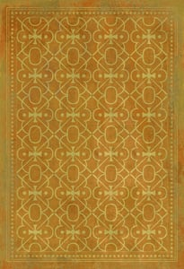 Distressed Mustard, Muted Orange - Colonel Mustard Classic Vintage Vinyl Pattern 05 Contemporary / Modern Area Rugs