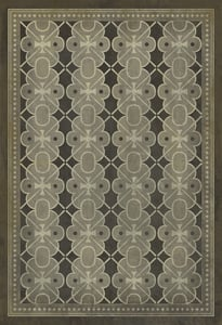 Distressed Grey, Muted Charcoal - Dorian Gray Classic Vintage Vinyl Pattern 05 Contemporary / Modern Area Rugs