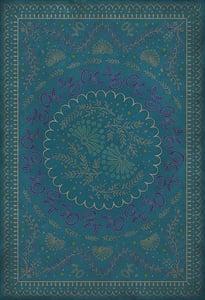 Blue - Enraptured I Gaze Williamsburg Vintage Vinyl Cozens Contemporary / Modern Area Rugs