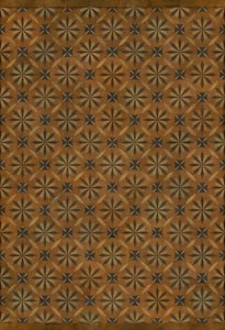 Antiqued Brown, Distressed Black - Art and Life Artisanry Vintage Vinyl Roycrofter Contemporary / Modern Area Rugs