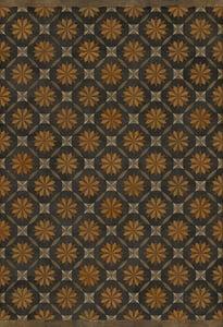 Distressed Black, Brown - As it Seems to Me Artisanry Vintage Vinyl Roycrofter Contemporary / Modern Area Rugs