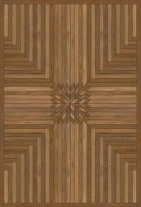 Antiqued Brown - Alone Norwegian Wood Vintage Vinyl Trollheimen Geometric Area Rugs