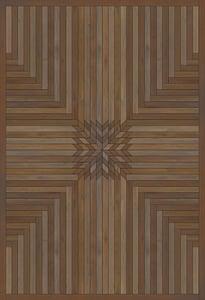 Antiqued Brown - Dream Within a Dream Norwegian Wood Vintage Vinyl Trollheimen Geometric Area Rugs