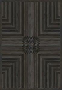 Distressed Black - The Haunted Place Norwegian Wood Vintage Vinyl Trollheimen Geometric Area Rugs