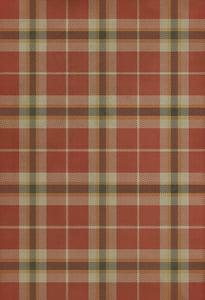Red, Cream, Distressed Black - Dartmoor Classic Vintage Vinyl Pattern 66 Country Area Rugs